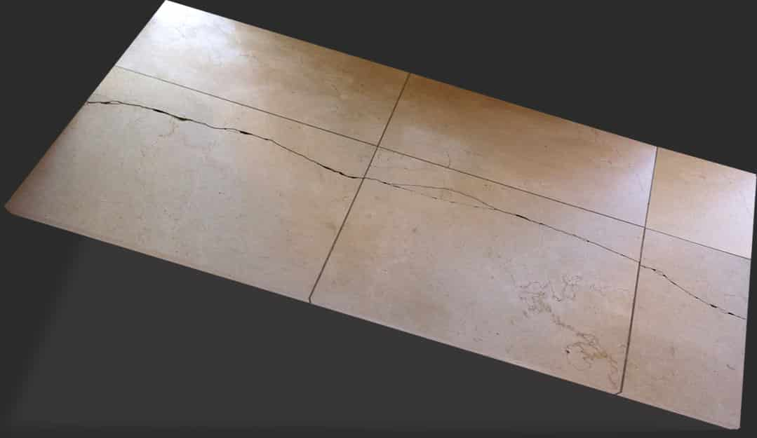 Floor tile crack repair