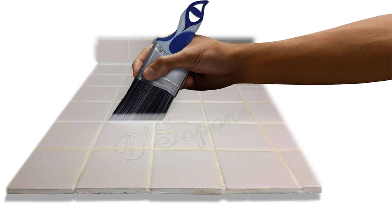 Shower grout color sealing