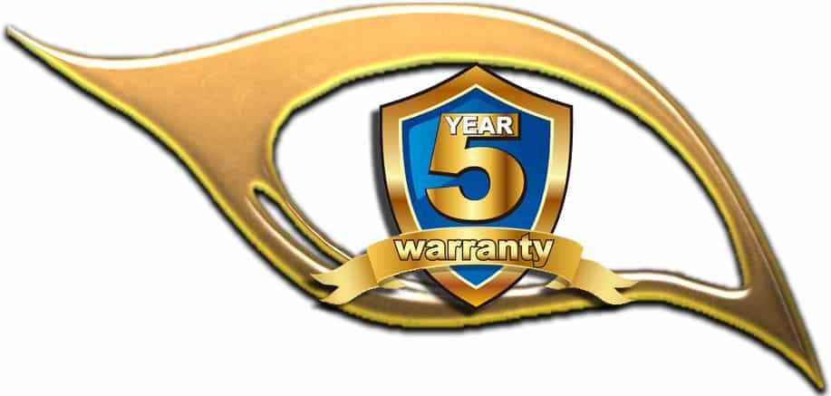 A 5 Year Warranty