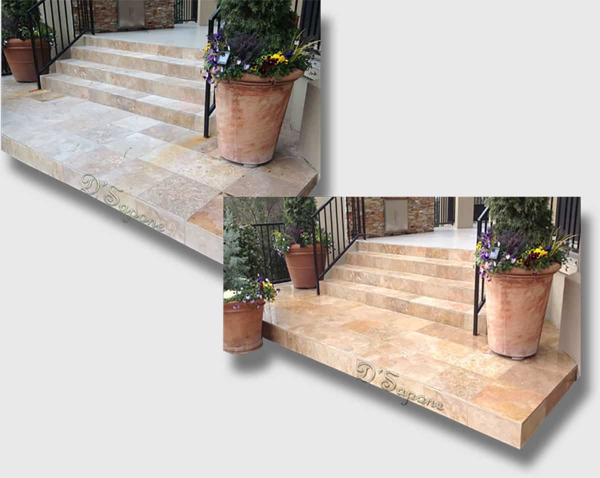 Outside Travertine Sealing