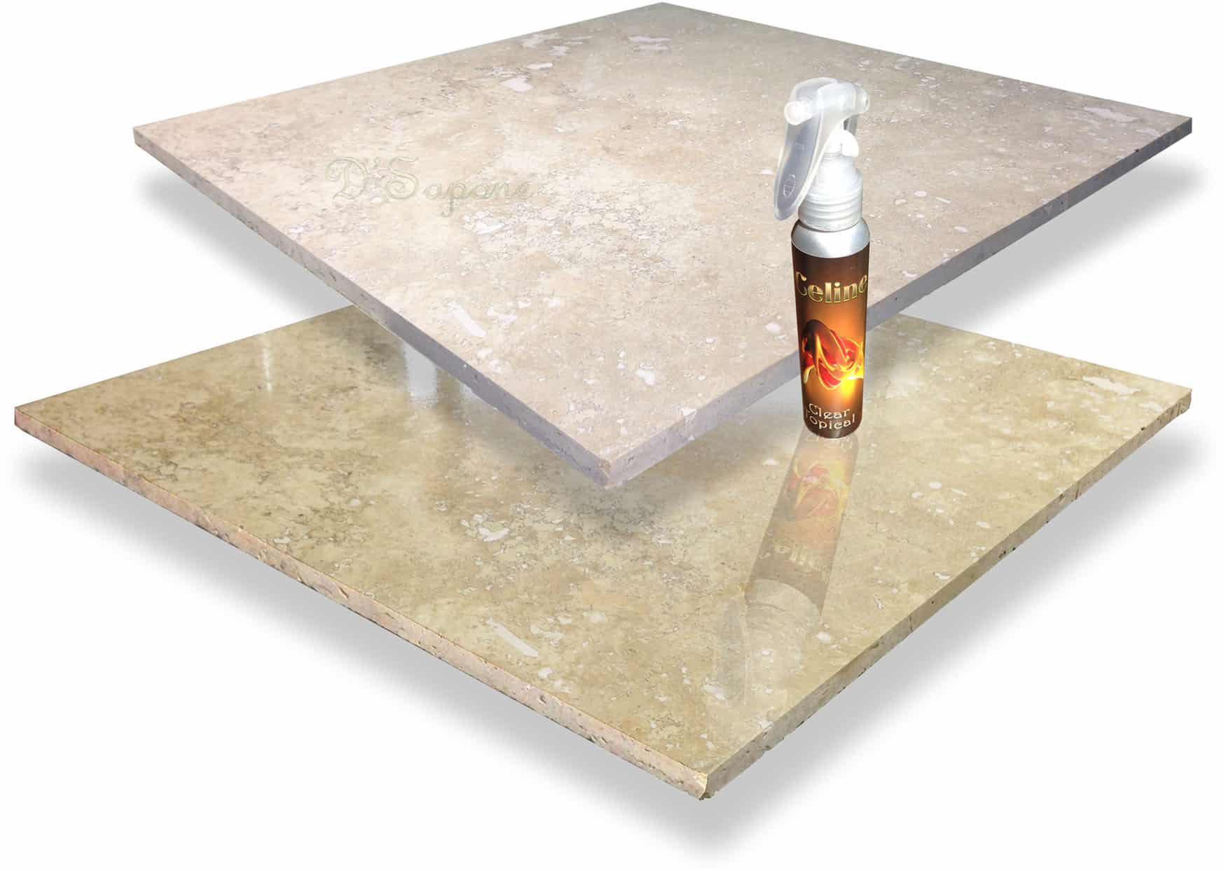 Travertine Sealing with a Sheen