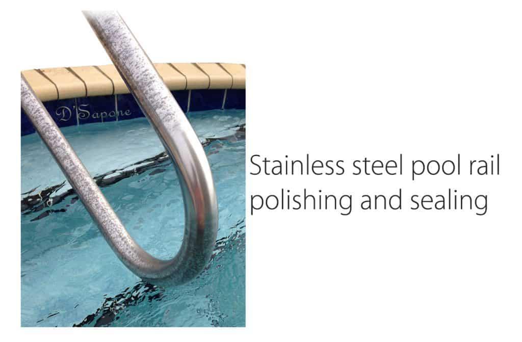 Pool Stainless Steel hand rail Polishing