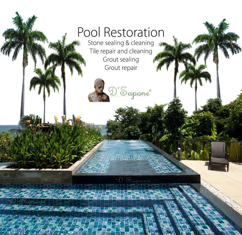 Pool resort Hotel Tile Grout Stone repair restoration warranty