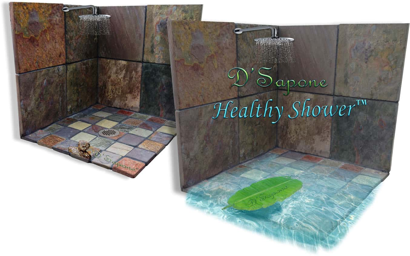 Healthy-shower-D'Sapone-Restoration-Slate-D'Sapone-Before