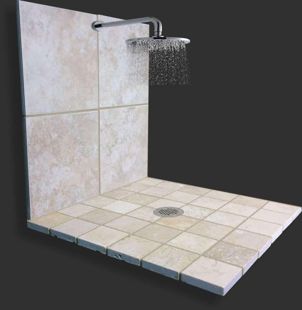 travertine shower restoration