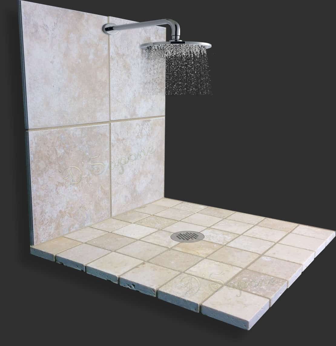 Marble Shower Cleaner Mold