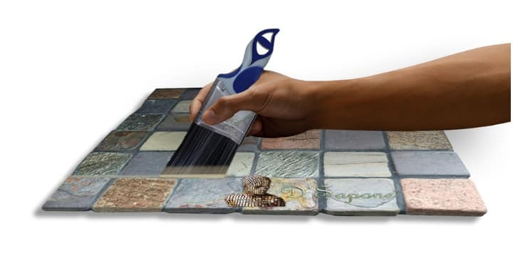 Slate-grout-sealing