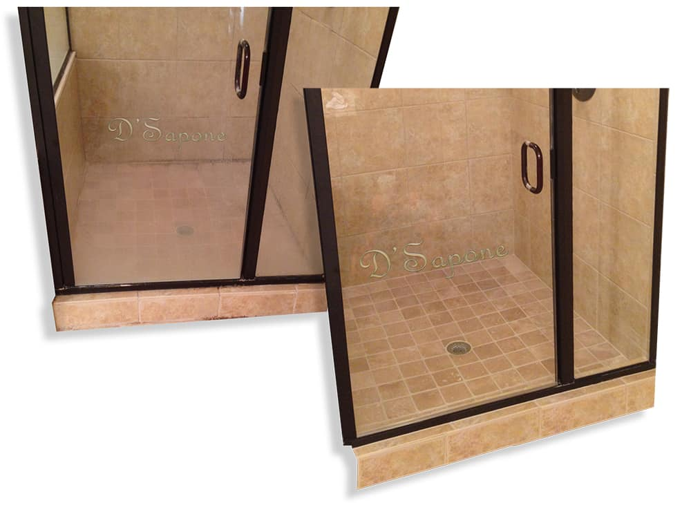Shower glass restoration services