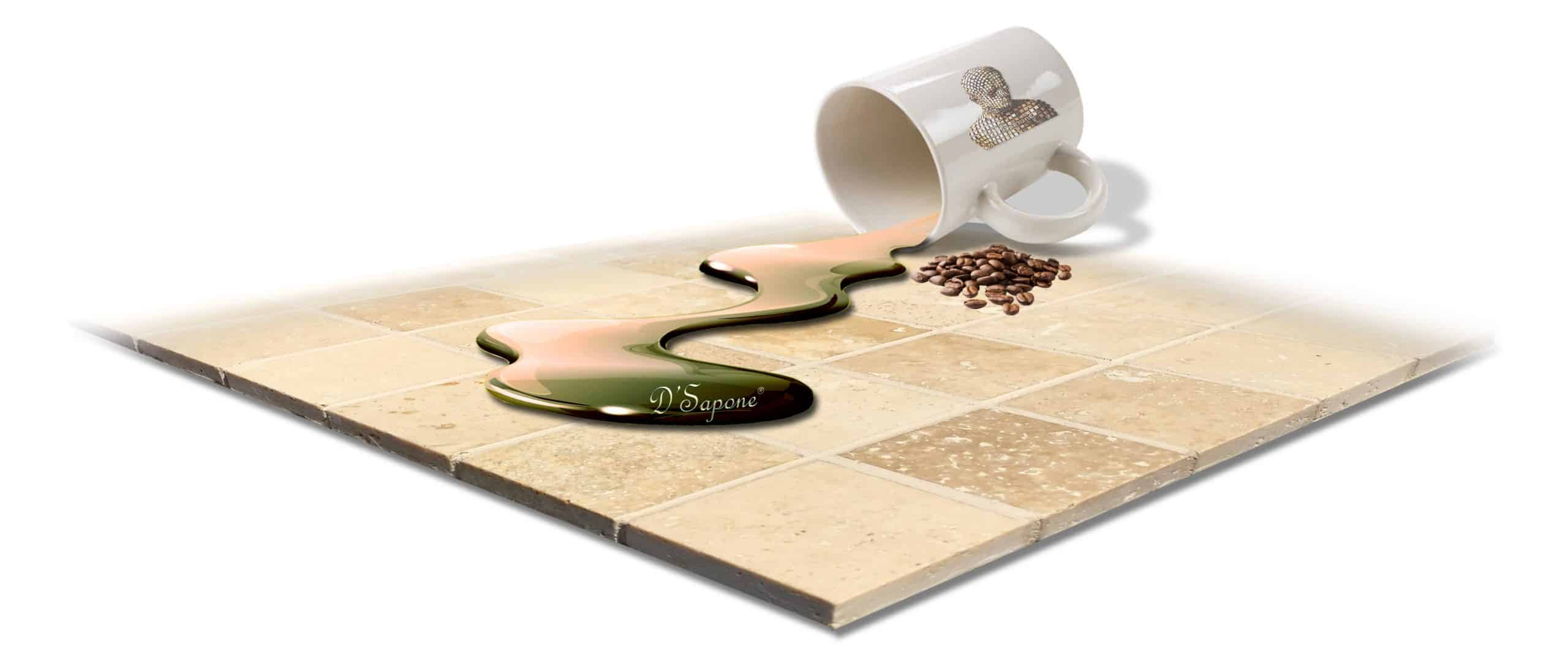 Caponi DSapone grout sealer coffee spilling
