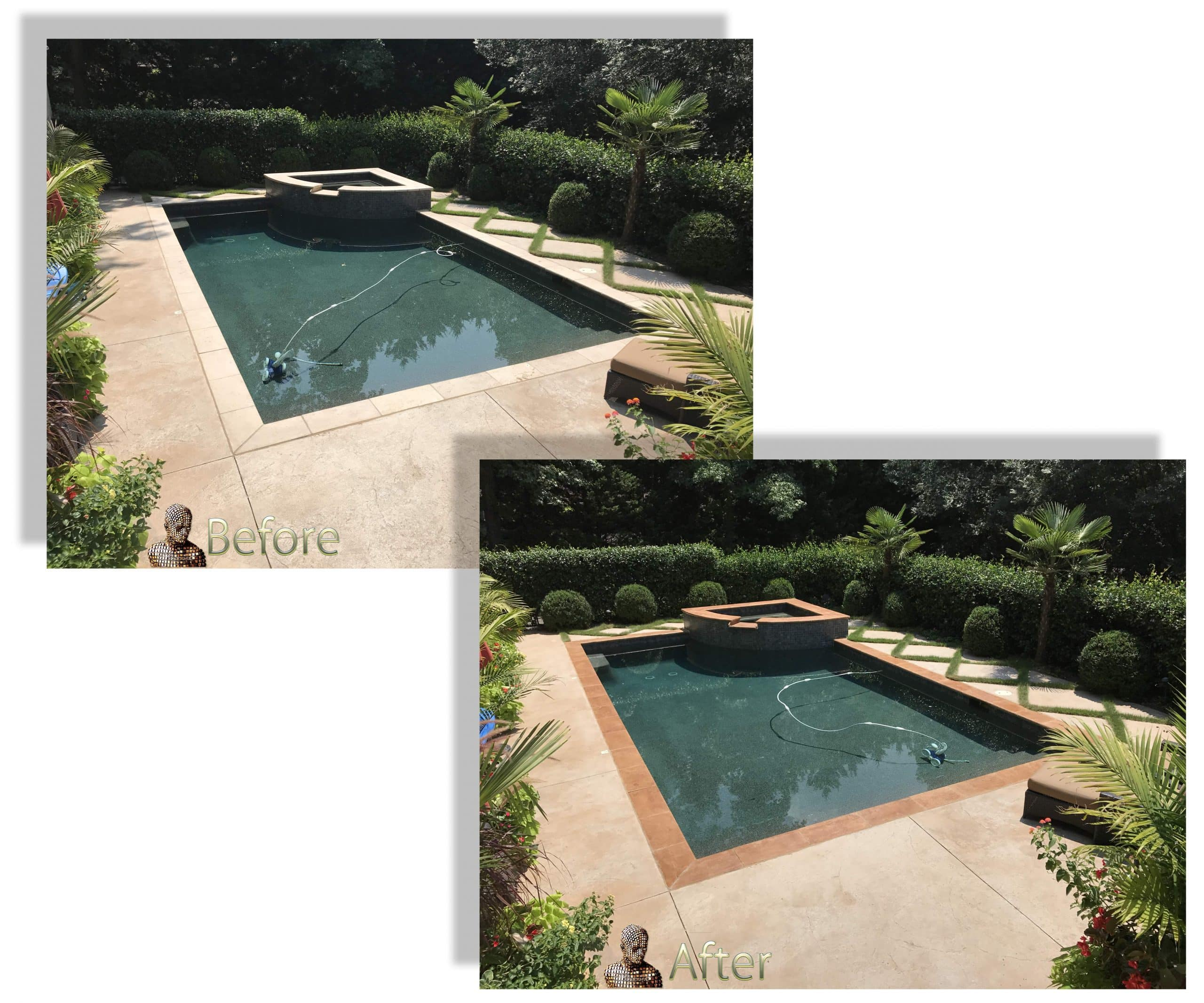 Changing Color Travertine Stone Limestone pool