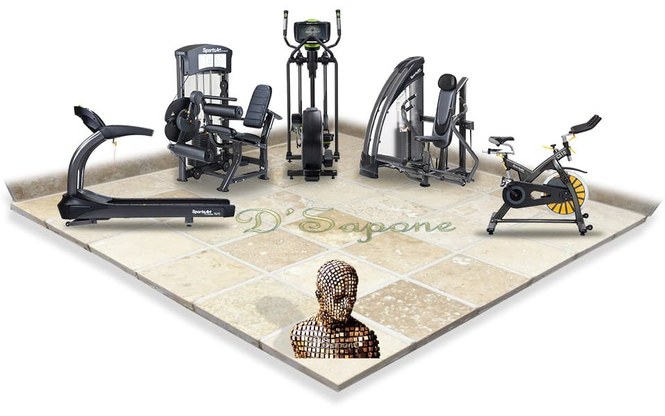 Gym tile grout flooring restoratin