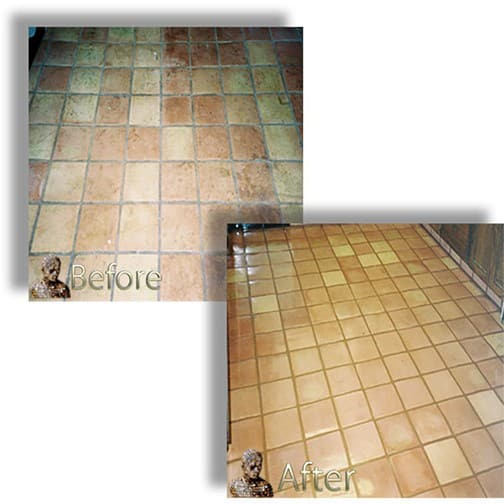 Saltillo Mexican Tile Polishing