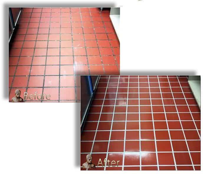 Quarry-Tile-Grout-restoration-D'Sapone Restorations - San Diego