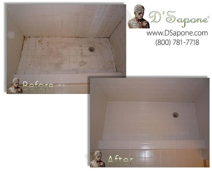 Shower tile and grout restoration service1